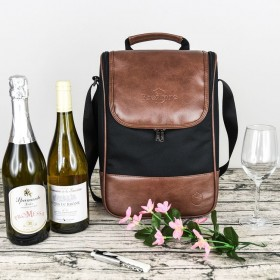 Wine Leather Tote (insulated)