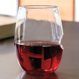 Stemless Engraved Red Glasses 16oz