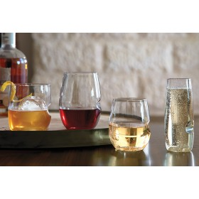 Stemless Engraved White Glasses 16oz