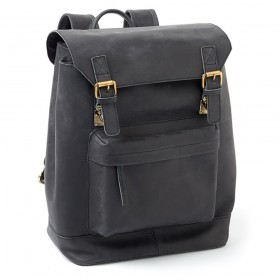 Leather Wine Back Pack (Black)