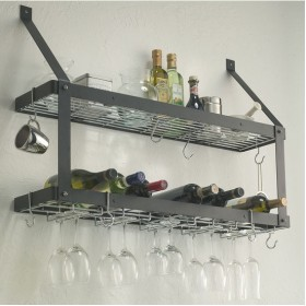 Double Bookshelf with Hooks
