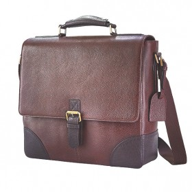 Genuine Leather Wine Bag (Brown)