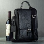 Leather Wine Bags (Black)