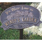 Personalized Wine Time Plaque