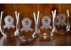 Personalized Shield Stemless Glasses