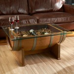 French Oak Barrel Table