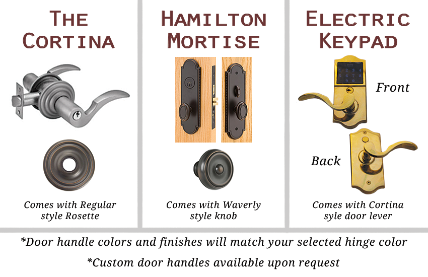 Cellar Doors | Door Handle Styles