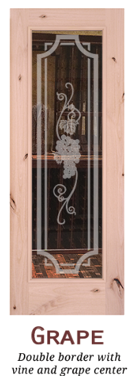 Cellar Door | Door Etching - Grape