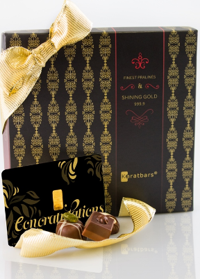 Karatbar Chocolate | Congrats Chocolate Gold Gift Card