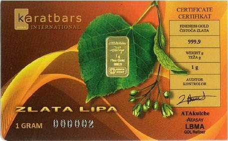 KaratBars | Gold Gift Card - Croatia