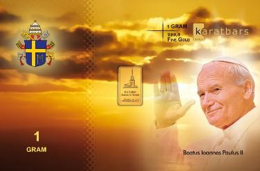 KaratBars | Gold Gift Card - Pope John Paul II