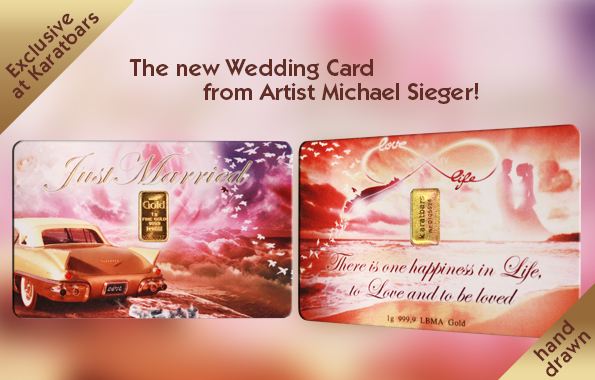 Karatbar | Wedding Gold Gift Card | Front & Back