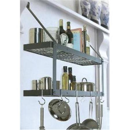 Pot Rack | Double Black & Chrome