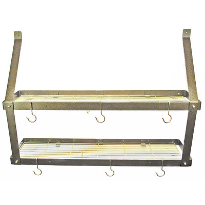 Pot Rack | Double Hammered Bronze & Brass