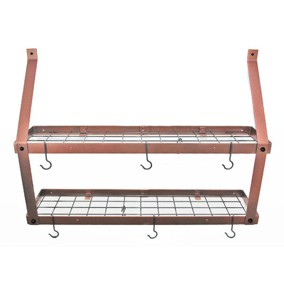 Pot Rack Gourmet Wall Mount | Double Hamm Copper Black