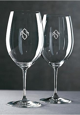 Riedel Monogrammed Glasses